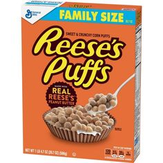 Reeses Peanut Butter Puffs Cereal Family Size oz Box Pack of 12 Food-Drinks Ingredients Supplies Toppers Food-Drinks Mixes-Flavorings Food-Drinks Ingredients Corn Puffs, Reese's Puffs, Kids Cereal, Cereal Boxes, Puffs Cereal, Hershey Cocoa, Crunch Cereal, Reeses Peanut Butter, Peanut Butter