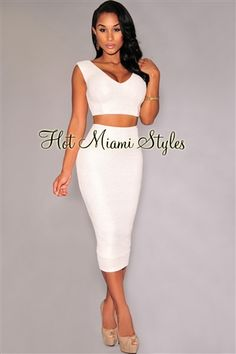 cc029c206d Off-White Textured Gold Shimmer Two Piece Set Womens clothing clothes hot  miami styles hotmiamistyles