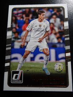 2016-17 Donruss Soccer # 145 Raphael Varane Real Madrid CF Card #RealMadridCF