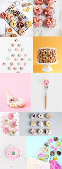 These 10 Recipes and DIY's to celebrate donuts are a must-have! At this rate, we'll be eating donuts for the next few months! Donut Recipes, Healthy Dessert Recipes, Fancy Cakes, Cute Cakes, Yummy Treats, Sweet Treats, Fudge Pie, Cute Donuts, Filling Food