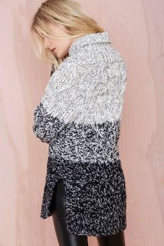 Great sweater, looks so warm and cozy!
