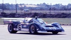 The beautifully prepared Roger Penske prepared Ferrari 512M at Sebring in 1971. Mark Donohue is at the wheel and with co-driver David Hobbs they came in 6th overall mainly due to an accident they had with Pedro Rodriguez's Gulf Porsche 917K.