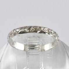 Vintage Silver Wedding Band  Floral Design  by affordablevintage4U, $48.00