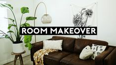 NASTAZSA This ROOM MAKEOVER is great for a small space. These affordable and trendy room decor pieces are from Urban Outfitters, A huge thank you to them. Urban Outfitters Room, Bohemian Decor, Boho, Easy House Plants, Apartment Makeover, Budget Bedroom, Diy Room Decor, Home Decor, Small Spaces