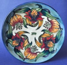Moorcroft Pottery 1999 Year Plate Limited Edition of 750 http://www.bwthornton.co.uk/moorcroft.php