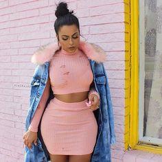 #blushvibes  Jacket: @lolashoetique use my code KIKIRAJXO for a discount  Set: @fashionnova use my code XOKRISTIN for a discount