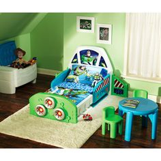 Disney Toy Story Buzz Lightyear Spaceship Toddler Bed. My future sons bedroom set up. :)