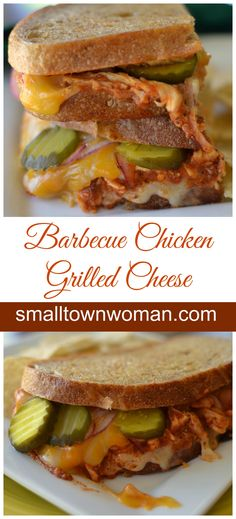 This easy and oh so delicious Barbecue Chicken Grilled Cheese is sure to become one of your favorites.