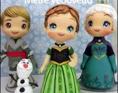 Polymer Clay Figures, Polymer Clay Dolls, Anna Frozen, Fondant Girl, Fondant People, Frozen Theme Cake, Fondant Cake Toppers, Fondant Tutorial, Clay Figurine
