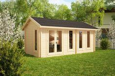 Gartenhaus Linda 16 m2 / 3 x 6 m / 44 mm
