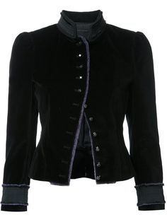Shop Marc Jacobs velvet Victorian jacket .