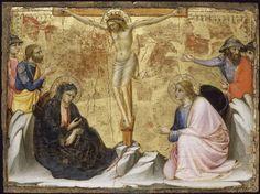 Scènes de la vie du Christ: Crucifixion // s.XIV // Mariotto di Nardo //  Avignon, musée du Petit Palais // #Jesus #HolyWeek #Calvary