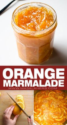 Easy Orange Marmalade Recipe prepared from scratch with only 2 ingredients. Make this orange preserve and enjoy your own homemade breakfast jam. Homemade Breakfast, Vegan Breakfast Recipes, Brunch Recipes, Snack Recipes, Cooking Recipes, Cocoa Recipes, Jam Recipes, Sweet Recipes, Marmalade
