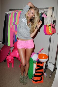 PINK clothing, bags, and beach accessories for a fun summer.