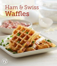 Waffles take savory turn with this delicious ham- and cheese-filled recipe. Add a fried egg, and your breakfast or dinner is complete!