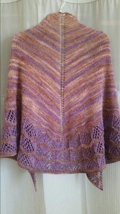 """Wish I Might"" by Irish Girlie Knits. Anzula hand dyed Nebula in brown & purple."