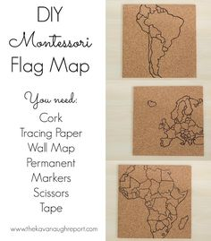 DIY Montessori Flag Pin Map
