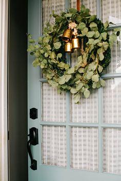 Front Door Makeover featuring Schlage Camelot style handleset in Matte Black | In Honor Of Design