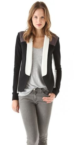 great color-blocked blazer for fall from #PenceyStandard via @Shopbop