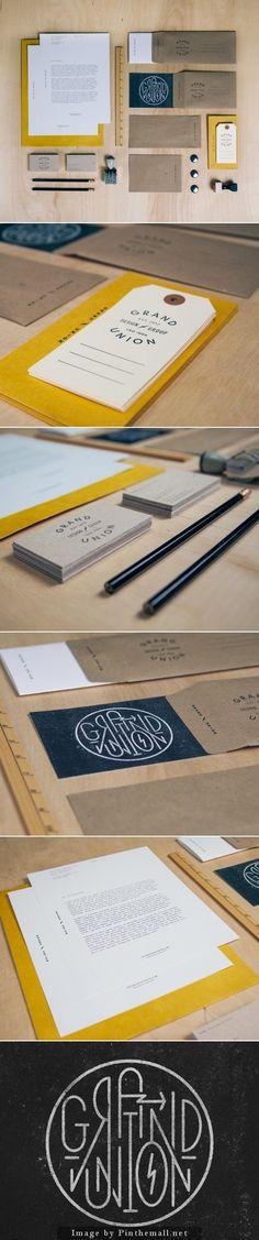 Corporate identity branding stationary minimal graphic logo design print business card letterhead craft paper cardboard vintage