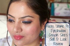 Faces Ultime Pro Eyeshadow Crayon She's Got D Look Review,Swatch,Photos,FOTD