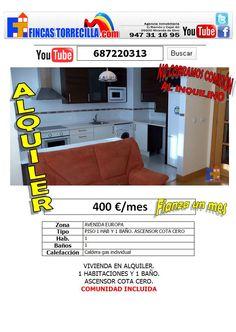 687220313 ALQUILER 400€/mes Apartamento 1 habitación,1 baño,perfecto. http://www.youtube.com/watch?v=d6j575q4Pyo