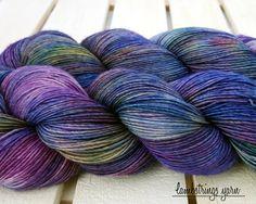 Sadie Sock HT 100g, Hand dyed yarn, Superwash merino wool, Single ply, 400 yds: Impressionist. by Lambstrings on Etsy
