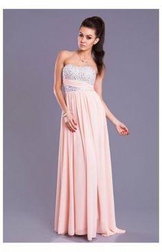 Robe Longue sans Bretelle Model 16237 Rose YourNewStyle 62694