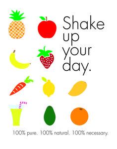 Shake up your day! #fruit #juicebar #shakeupyourday
