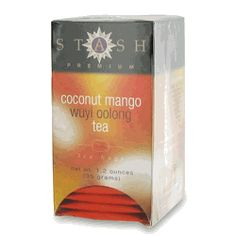 Stash Coconut Mango Wuyi Oolong Tea - 18 count http://www.englishteastore.com/stash-tea-coconut-mango-wuyi-oolong.html