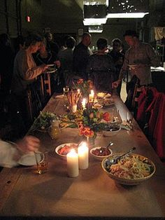 Butcher paper as a table runner - weddings | BLOG Pizzeria Prima Strada