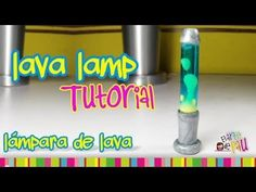 Lava Lamp Polymer Clay tutorial / Lámpara de Lava de arcilla polimérica