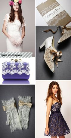 Wedding Inspiration. Encaje-guía de compras/Lace-shopping guide