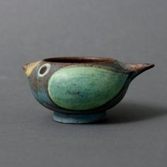 dybdahl bowl salt bird danish studio pottery by northvintage, $73.00