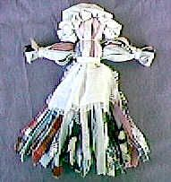 Make a Nettie Doll with Rag Rug Strip. I made one of these dolls for each of my kids for Christmas on year.
