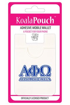 Alpha Phi Omega Koala Pouch Adhesive wallet for your phone