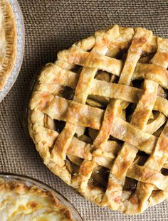 A rosemary-laced cornmeal crust gives this lattice-topped apple pie a fragrant, savory kick.