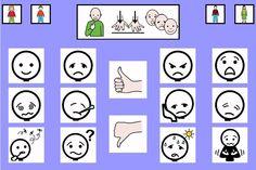 """""""Tablero de comunicación: estados"""". Recopilación de diferentes tableros de comunicación de 12 casillas, organizados por necesidades básicas y centros de interés. Los tableros pueden imprimirse tal como aparecen en los documentos o bien se puede modificar el contenido, la forma, el color, etc., para adaptarlos a las características individuales de cada usuario. Pueden utilizarse también para trabajar distintos repertorios de vocabulario agrupado por temas o categorías."""