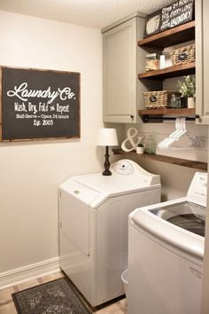 Farmhouse style Laundry room makeover (for under $100)-9 #DIYHomeDecorLamp #LampKitchen
