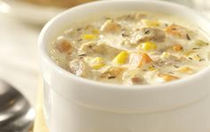 Charlie's Corn Chowdah' - great weekday soup! Slow Cooker Recipes, Crockpot Recipes, Soup Recipes, Cooking Recipes, Slow Cooking, Copycat Recipes, Fall Recipes, Great Recipes, Favorite Recipes