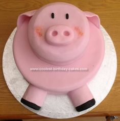 Homemade Pig Cake: I made this pig cake for a pig-mad friend's 40th birthday and it got lots of positive comments. It is based on an idea found on this web site so in return