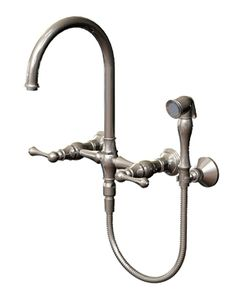 Wall Mounted Bridge Kitchen Faucet With Hand Spray $731.25