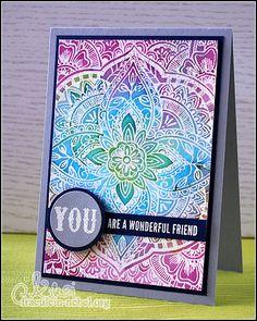 """""""wonderful friend"""" - das sollten wir ein paar Leuten öfters sagen. Bunt, aber nicht zu unruhig und sehr schnell zu machen - mehr davon! Druckfarben Im Distress-look, Hero Arts Cards, Making Greeting Cards, Beautiful Handmade Cards, Handmade Birthday Cards, Card Maker, Watercolor Cards, Cool Cards, Creative Cards"""