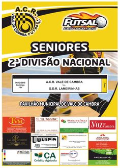 Futsal: *ACR Vale de Cambra vs GDR Lameirinhas* > 6 Dezembro 2015, 18h @ Pavilhão Municipal, Vale de Cambra _Seniores | 2.ª Divisão Nacional_