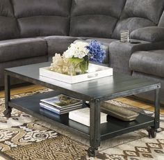 A metal coffee table that brings warehouse charm home and is sure to please that stylish industrial chic look your seeking for your living space.