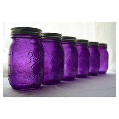 Purple Mason Jars [just in case you needed them I suppose. Shades Of Purple, Deep Purple, Pink Purple, Magenta, Mauve, Purple Mason Jars, All Things Purple, Purple Stuff, Jars
