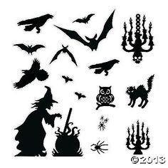 photograph relating to Free Printable Halloween Silhouettes known as 450 Ideal halloween silhouettes pics inside 2019 Halloween