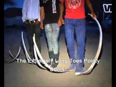 Mexican Pointy Boots Create A Craze In Matehuala Town In Mexico (Video) Mexico Funny, Pointy Boots, Long Toes, Mexican, Youtube, Project Ideas, Bright Colors, Hearts, Diy
