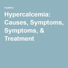 Hypercalcemia Treatment Natural