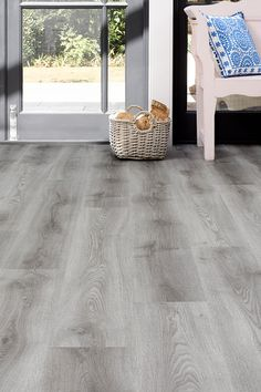 When kids and pets are always dragging dirt in from the garden, you need a floor that can take some punishment – like our Spectra Light Grey Oak Pla… – Flooring Designs Grey Vinyl Plank Flooring, Vinyl Flooring Kitchen, Hallway Flooring, Wood Floor Kitchen, Floors Kitchen, Luxury Vinyl Flooring, Light Grey Wood Floors, Grey Wood Tile, Wood Tile Floors